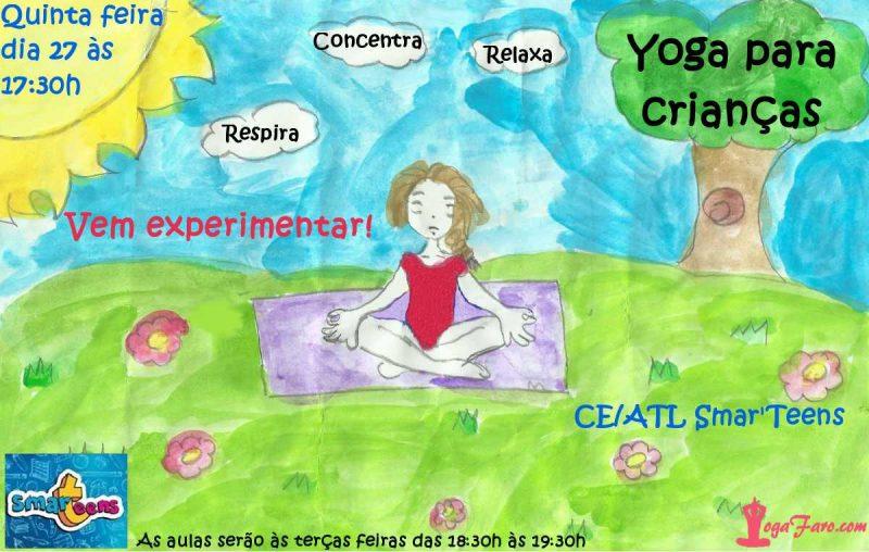 Yoga para crianças em Faro